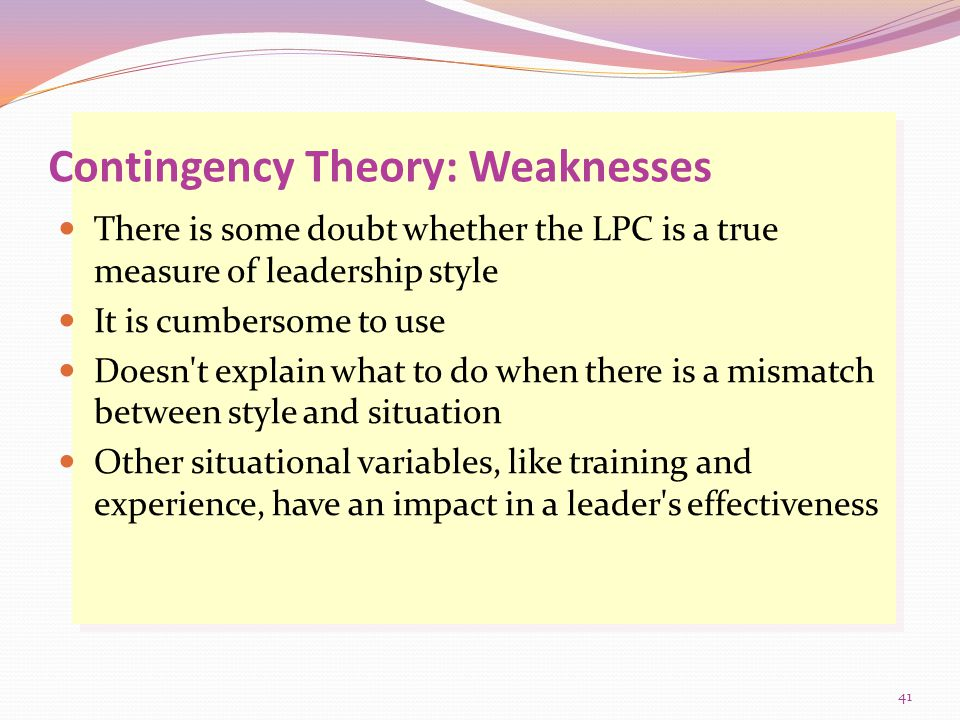 weaknesses as a leader