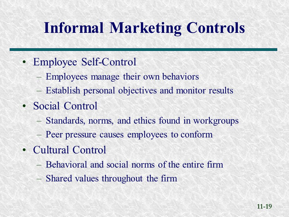 informal marketing Formal vs informal groups man is a social animal and cannot live in isolation being gregarious and compassionate, he needs the company of others to share.