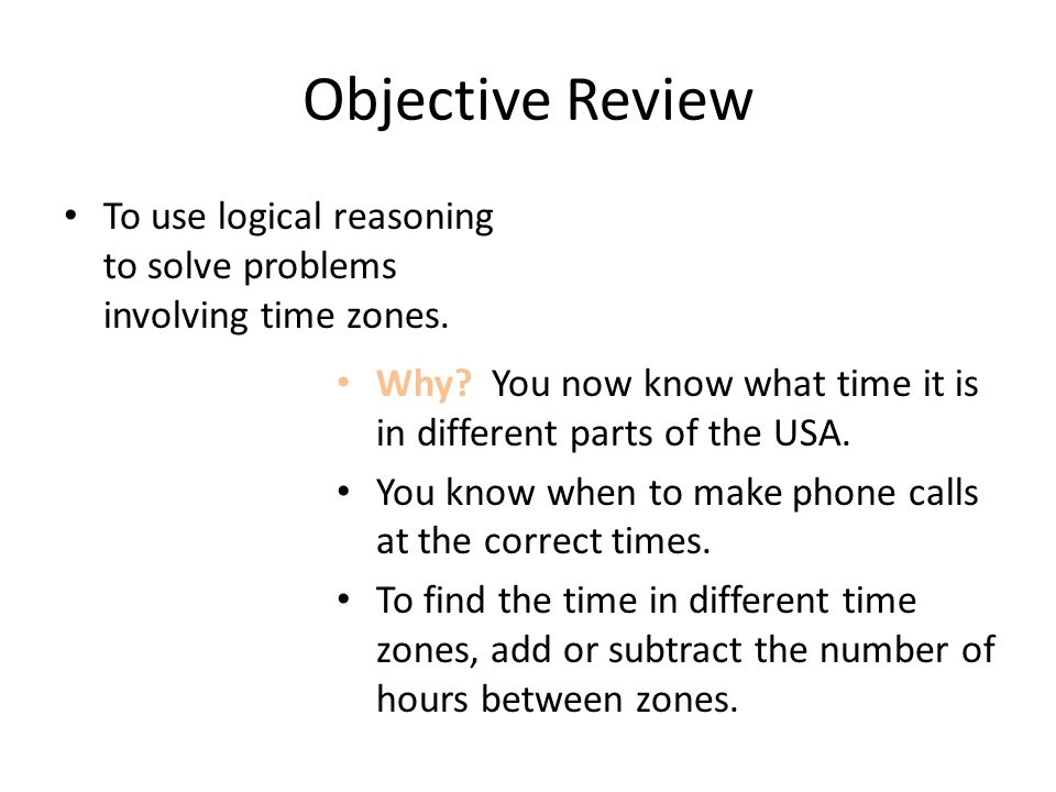 Th Grade Math Using Time Zones Ppt Video Online Download - Different time zones in usa