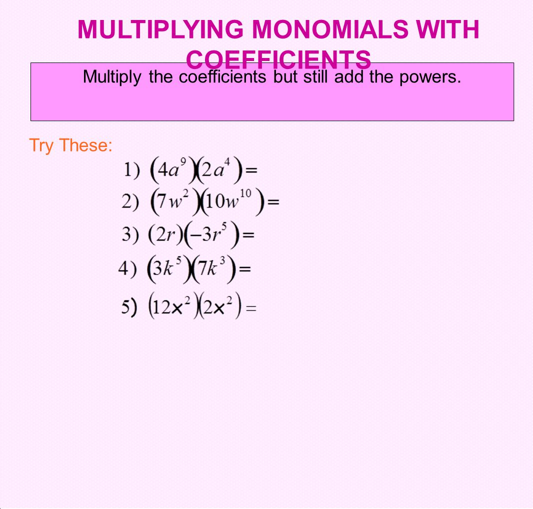 worksheet Multiplying Monomials Duliziyou Worksheets for – Multiply and Divide Monomials Worksheet