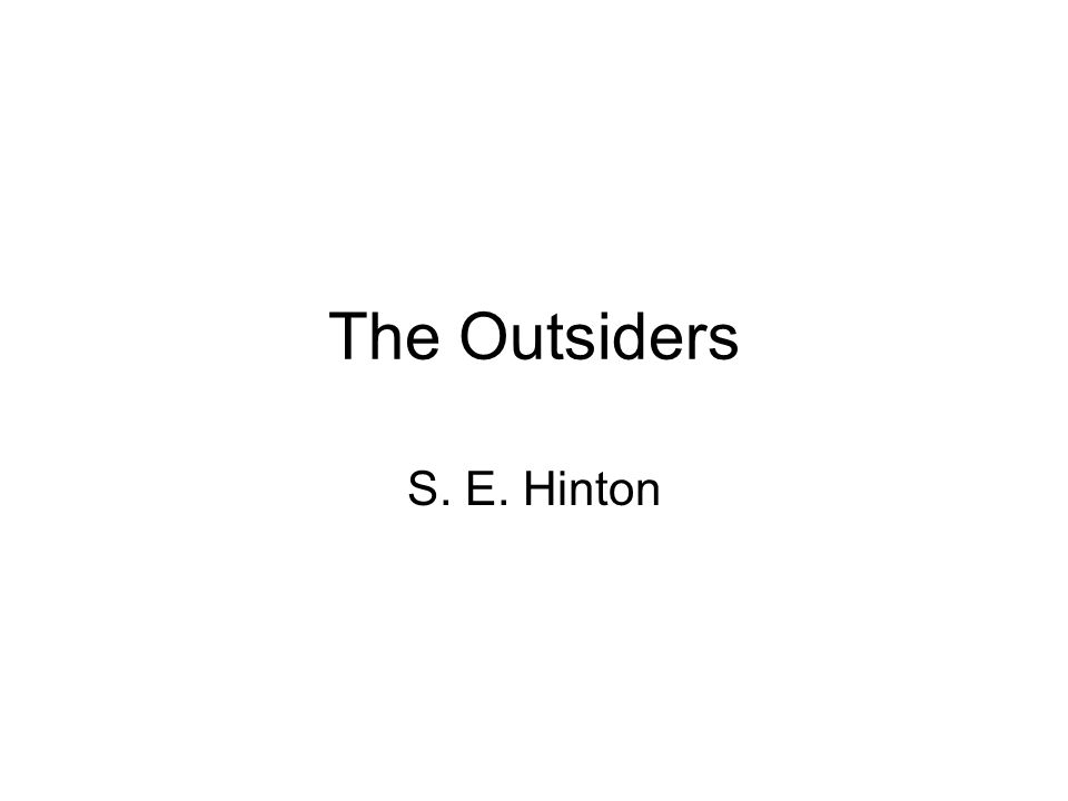 a synopsis on the outsiders by se hinton Summary and analysis of the outsiders by se hinton.