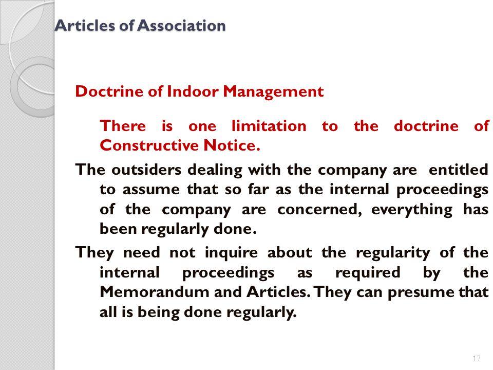doctrine of indoor