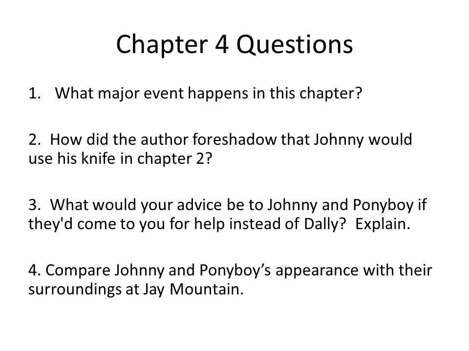 the outsiders chapter 4 pdf