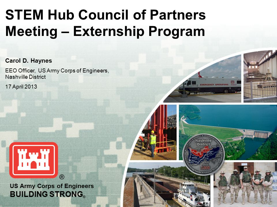 STEM Hub Council of Partners Meeting – Externship Program ...