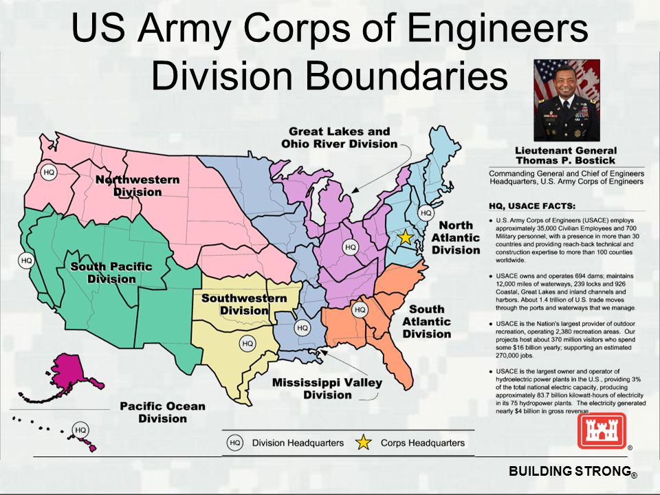 3 us army corps of engineers division boundaries