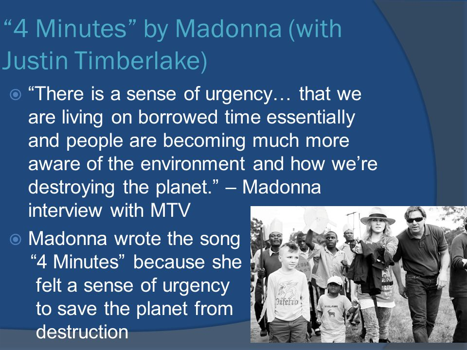 4 Minutes by Madonna (with Justin Timberlake)