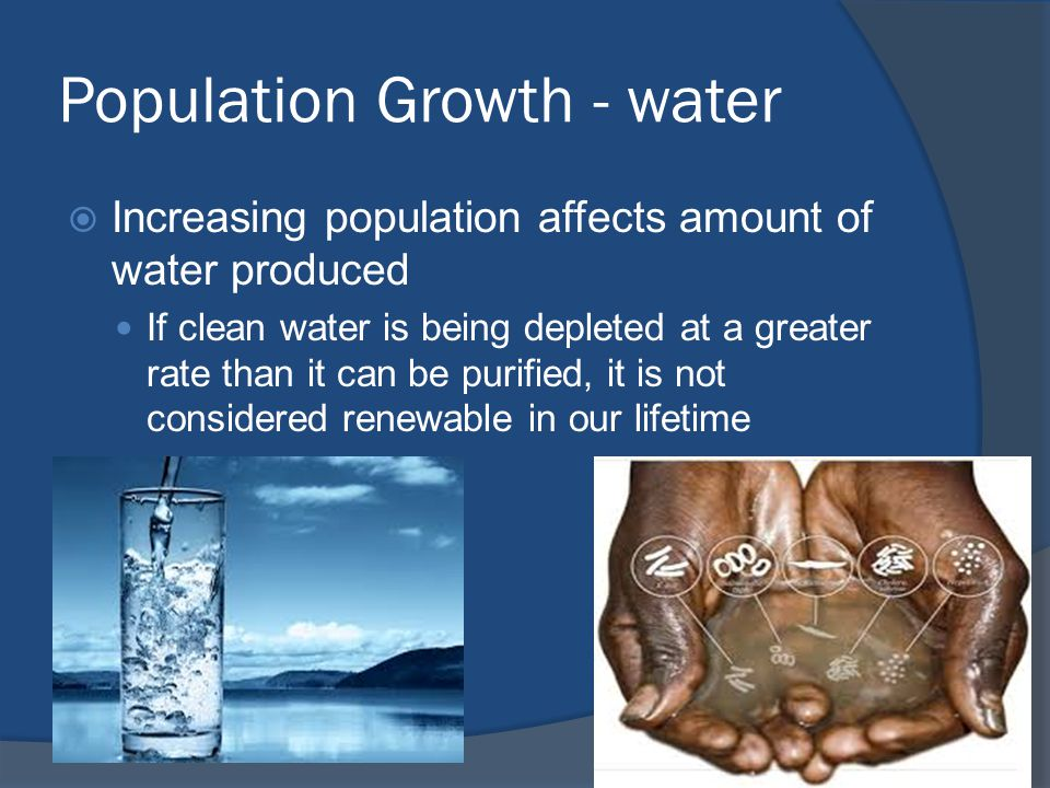 Population Growth - water
