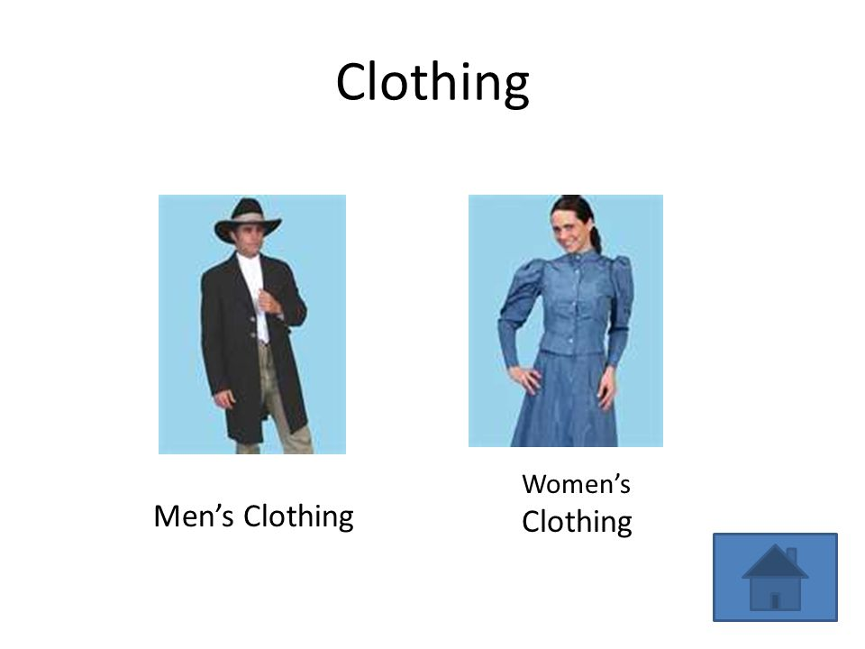 Clothing Women's Clothing Men's Clothing