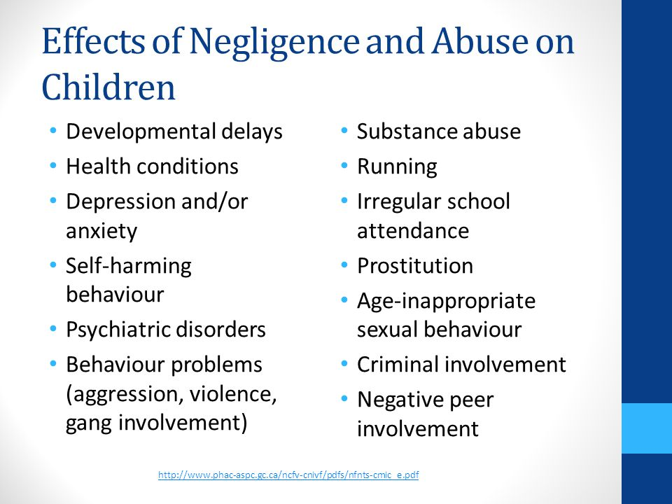 the negative effects of child abuse Effects of bullying bullying can affect everyone—those who are bullied, those who bully, and those who witness bullying bullying is linked to many negative outcomes including impacts on mental health, substance use, and suicide.