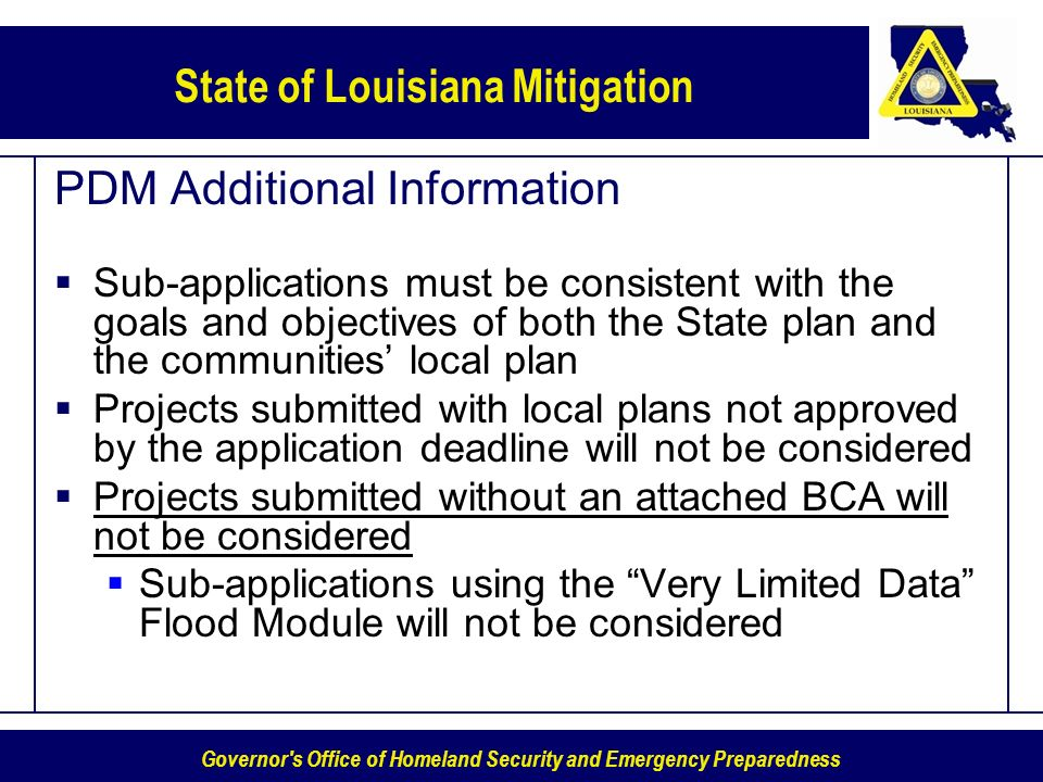PDM Additional Information