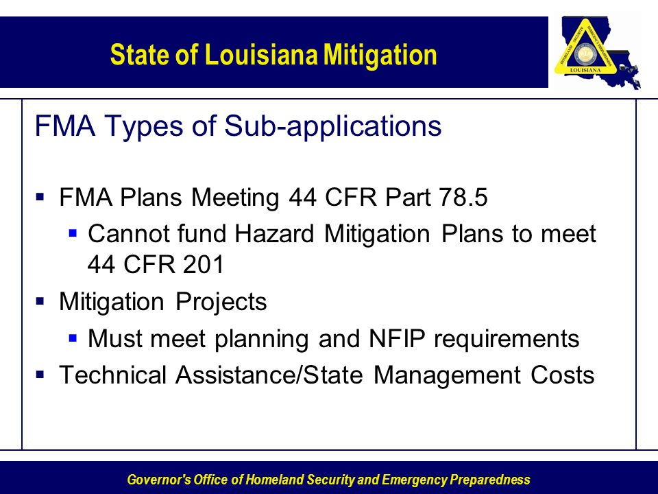 FMA Types of Sub-applications
