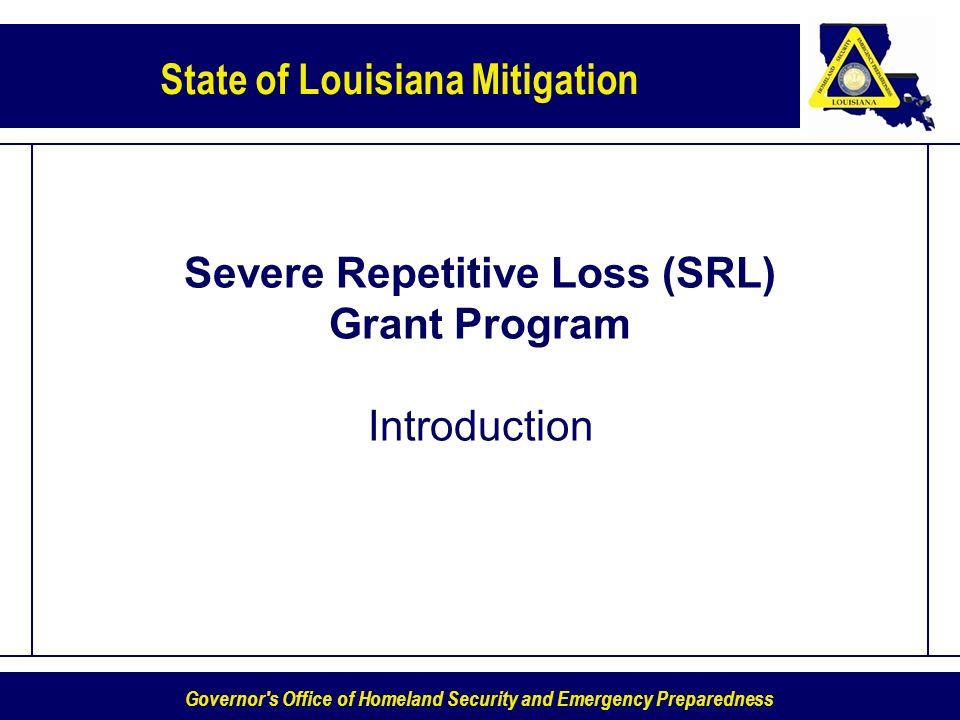 Severe Repetitive Loss (SRL) Grant Program Introduction