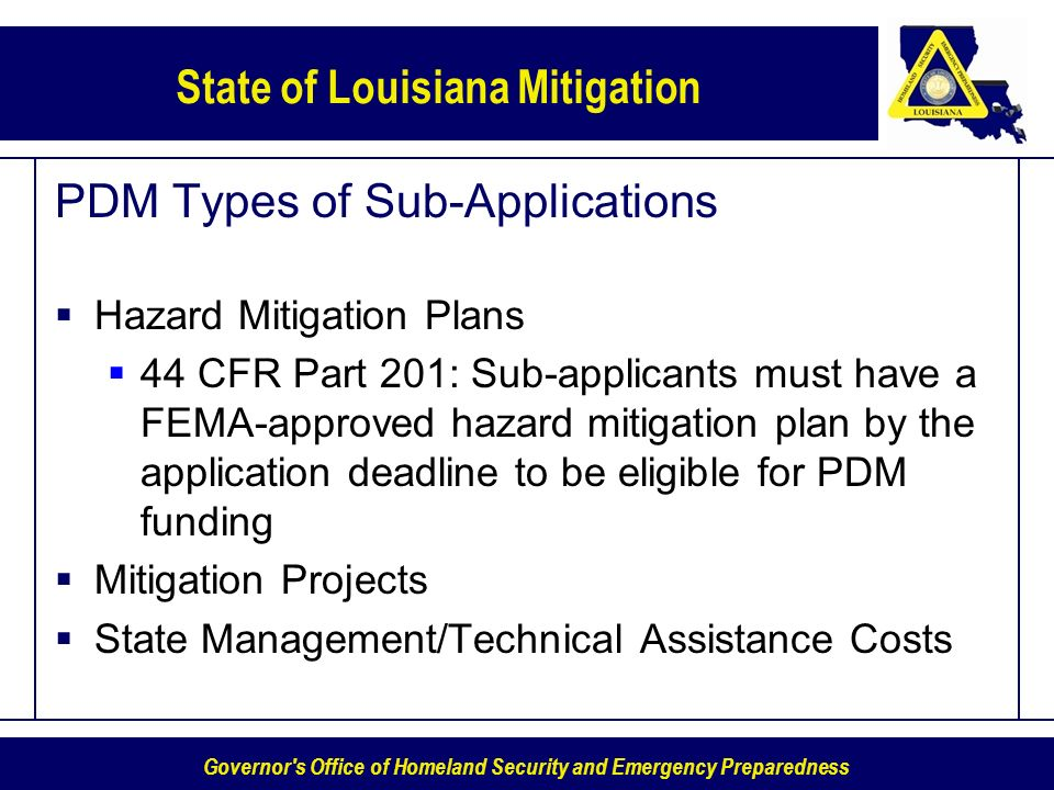 PDM Types of Sub-Applications