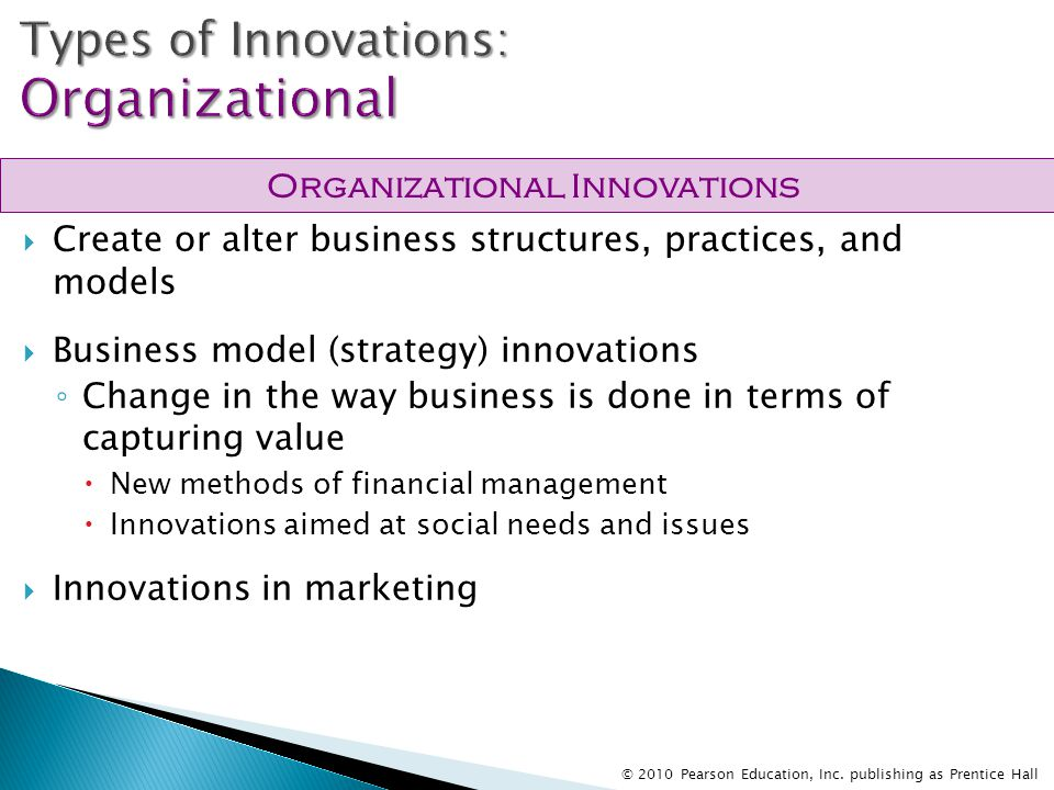 types of innovations in marketing Innovation - marketing management implications there are three basic types of innovation: continuous innovation these are simply new models with no learning curve for consumers for example, the latest.