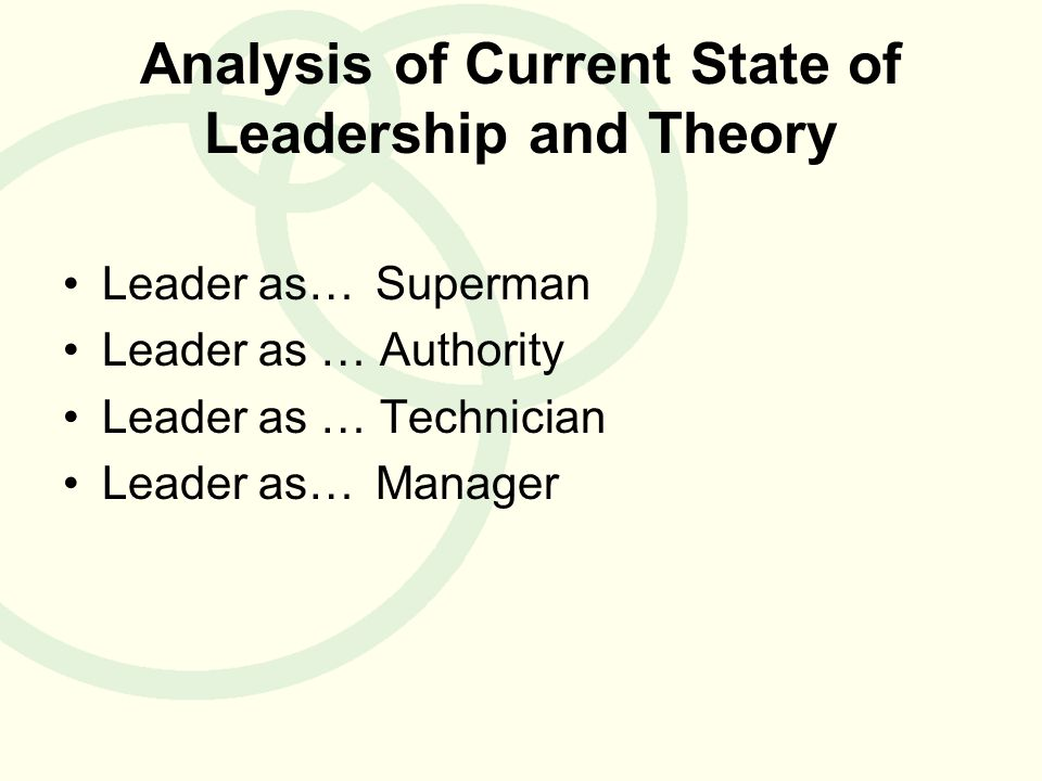 leadership theories and analysis Gender and perceptions of leadership effectiveness: a meta-analysis of contextual moderators samantha c paustian-underdahl florida international university.