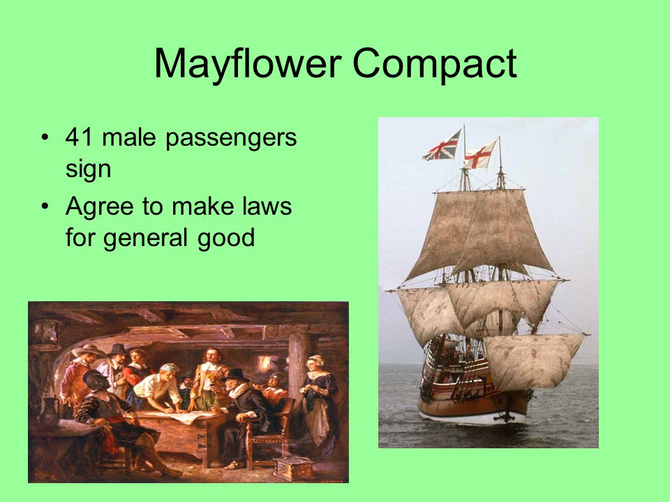 Mayflower Compact 41 male passengers sign
