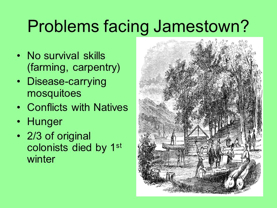 Problems facing Jamestown