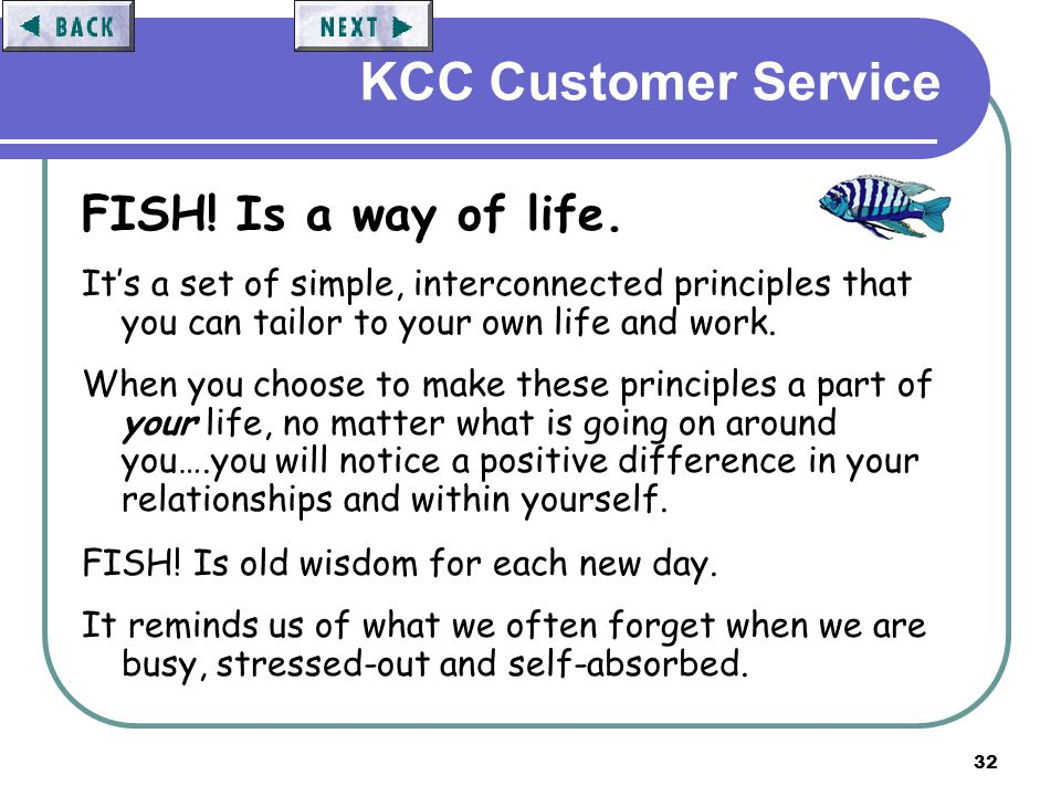 Customer service the basics ppt video online download for Fish customer service