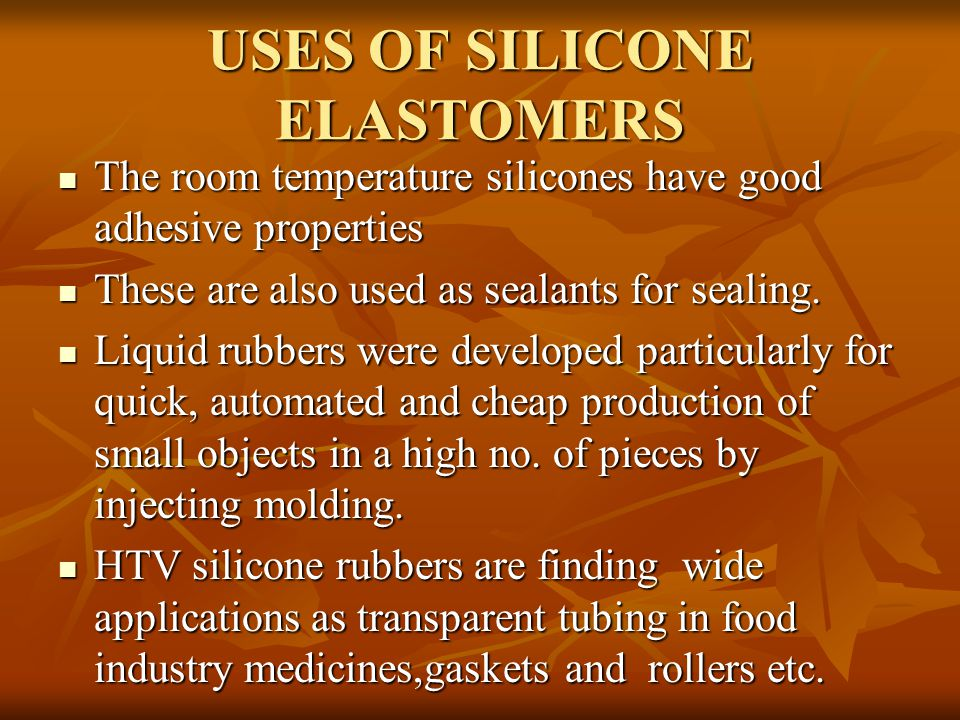 SILICONES AND PHOSPHAZENES - ppt video online download