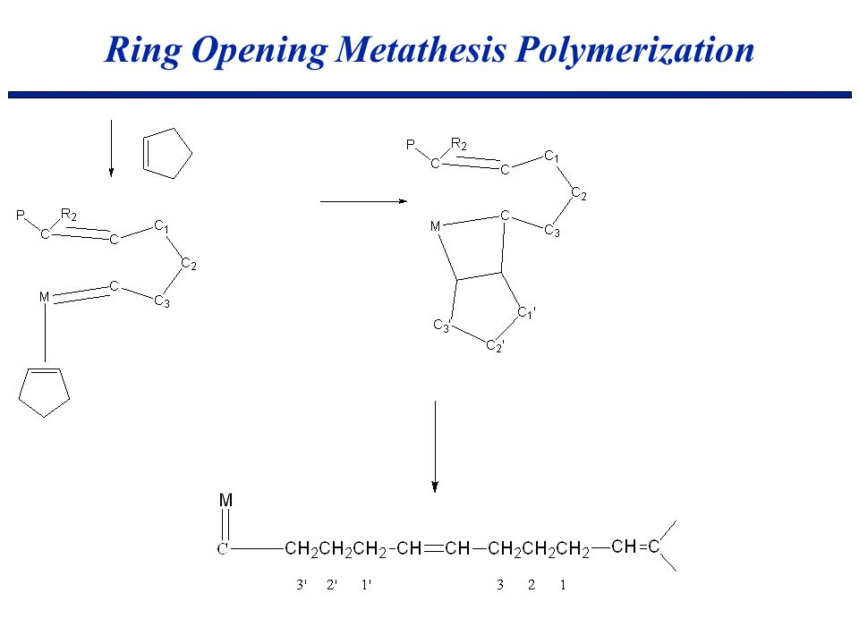 the ring opening metathesis polymerisation toolbox Ring-opening metathesis polymerization (romp) is a type of olefin metathesis  chain-growth polymerization that produces industrially important products.