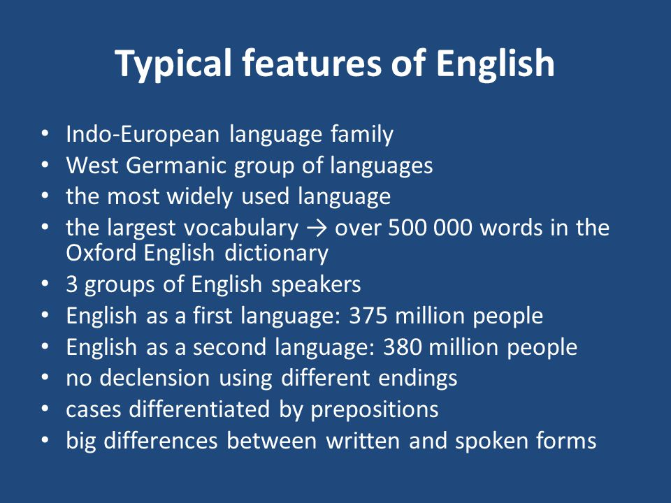 Learning Foreign Languages English As A World Language Ppt Download - Largest speaking language of world