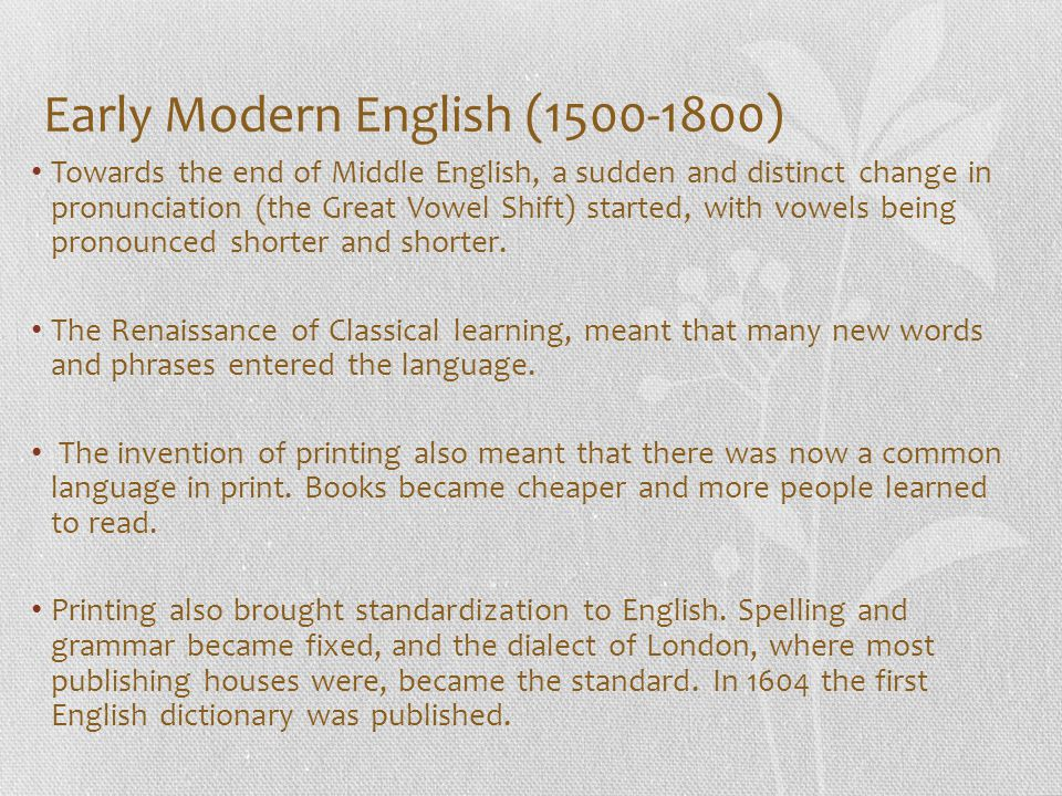 the history and spelling of english The history of english spelling this book is based on material that was being prepared by the late christopher upward before his untimely death in 2002 in the chapters he had prepared, christopher left far more material than could possibly be included in the book.