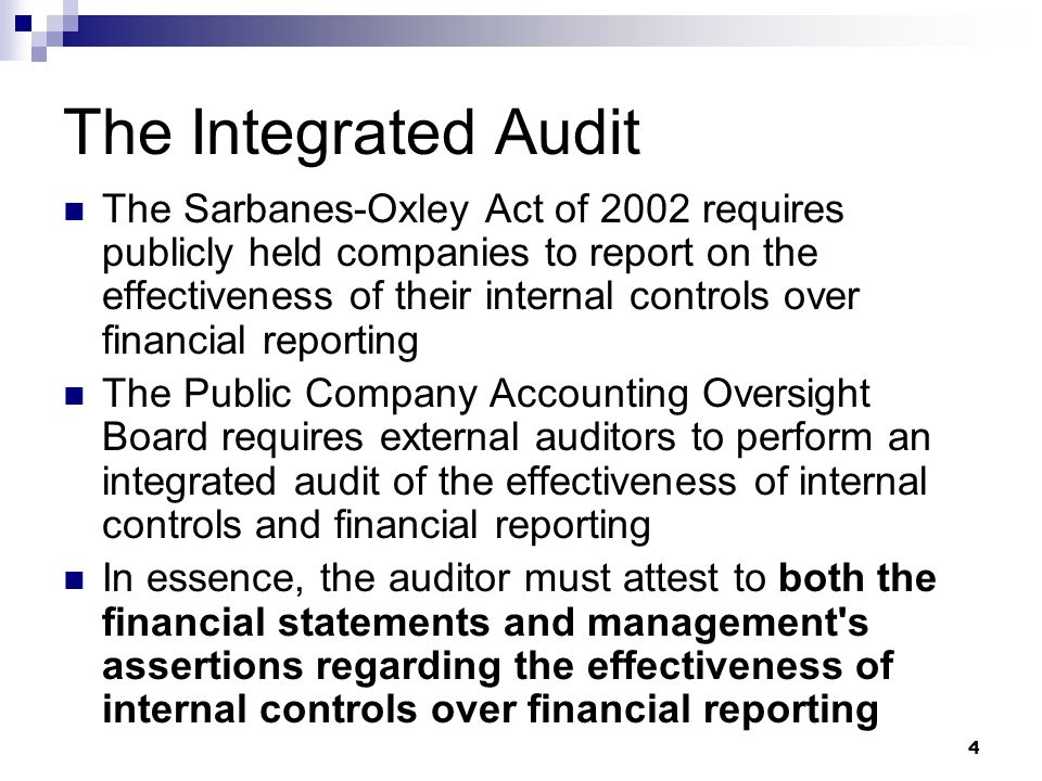 The Integrated Audit