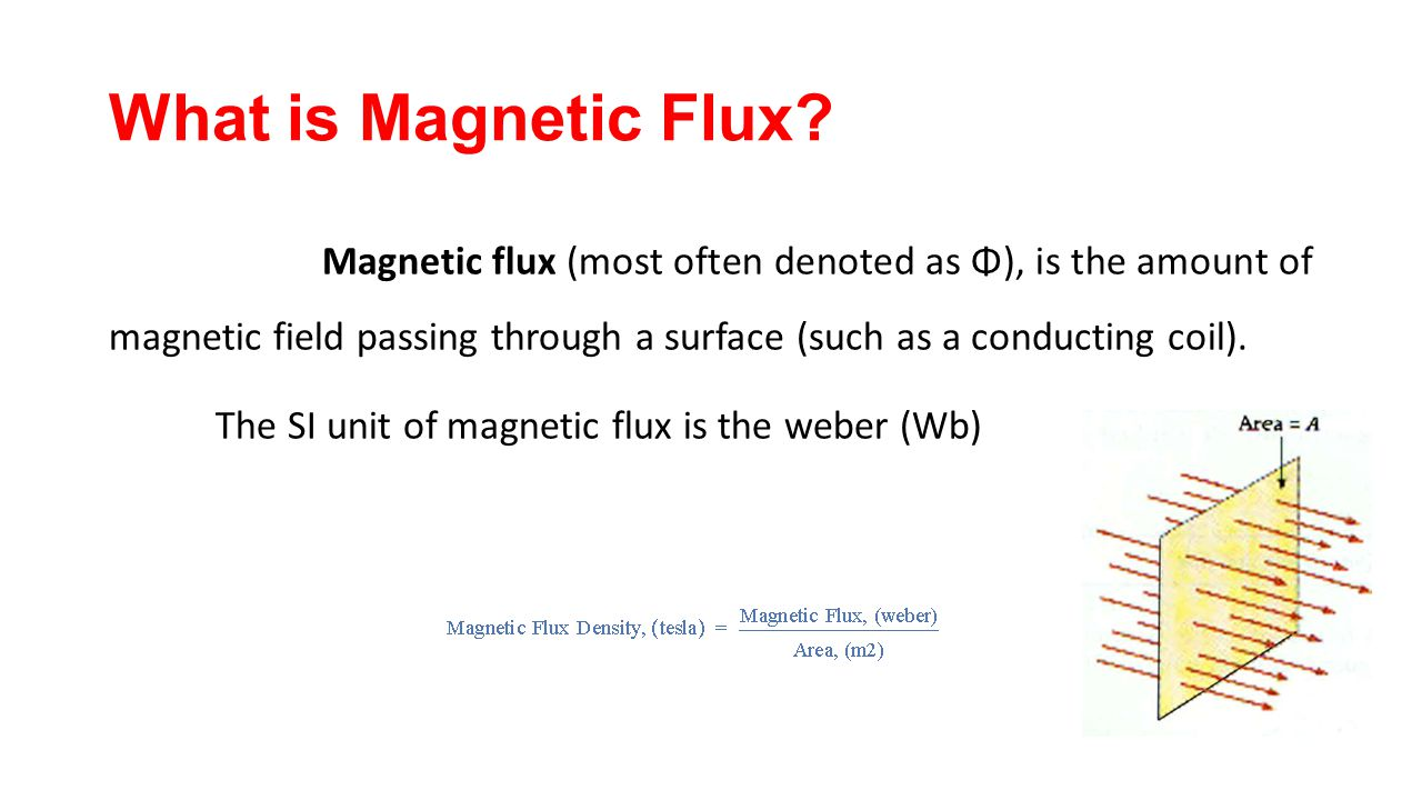 Magnetic Flux (most Often Denoted As Φ), Is The Amount Of Magnetic Field  Passing Through A Surface (such As A Conducting Coil). The SI Unit Of  Magnetic Flux ...