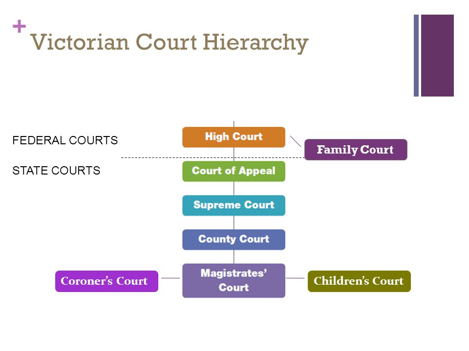 an analysis of the court hierarchy in the court system of australia Introduction related link: history of the law in ireland structure of the courts chart  1924 which established the legal basis for a court system.