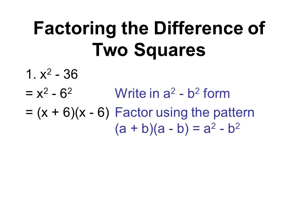 Factoring Difference Of Squares Forteforic