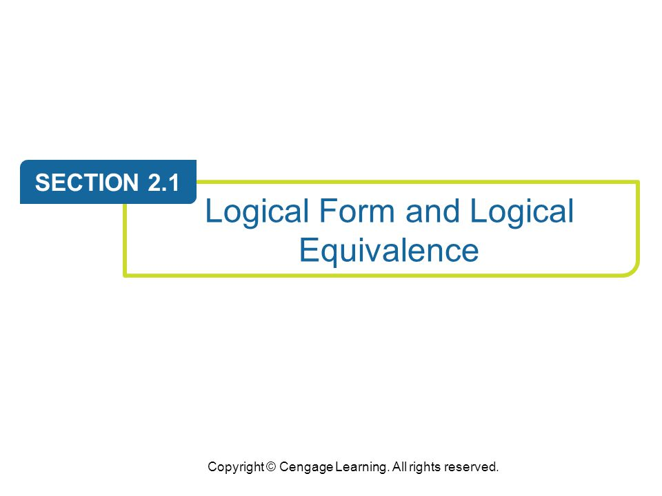 Logical Form and Logical Equivalence
