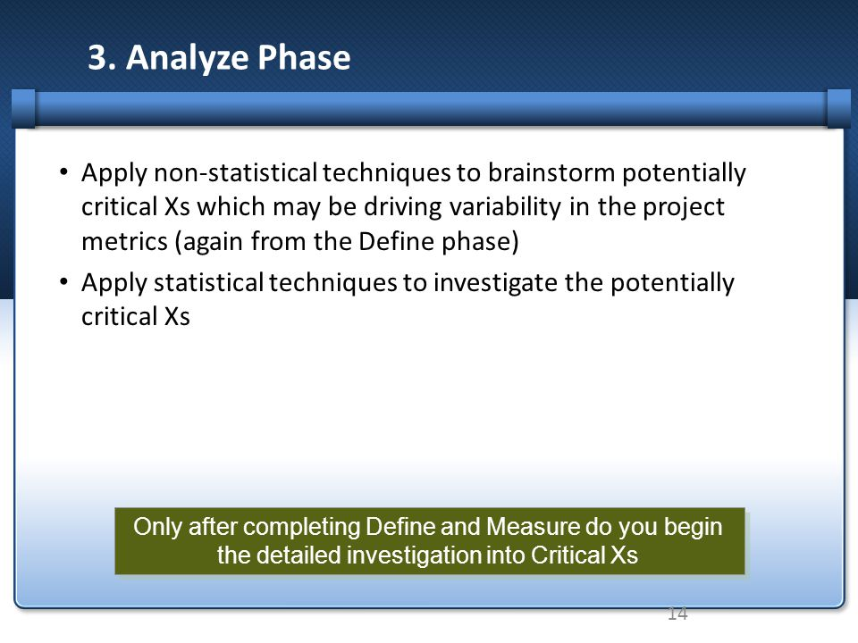 3. Analyze Phase