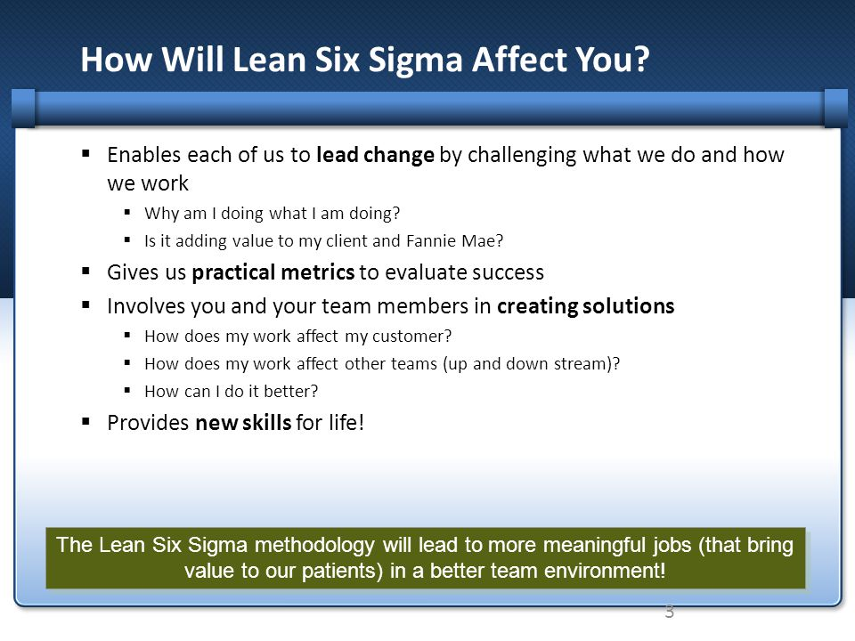 How Will Lean Six Sigma Affect You