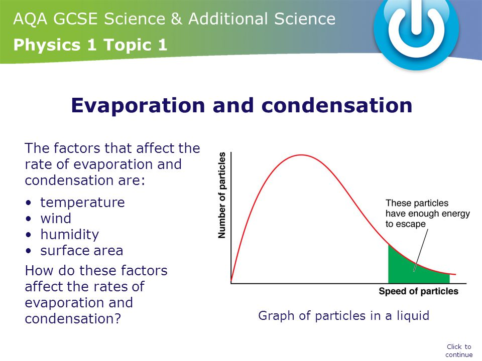 what affects the rate of evaporation in different liquids Msds sheets: an evaporation rate is the rate at which a material will  several  formulas for predicting evaporation rates of liquid from a non-boiling pool are.