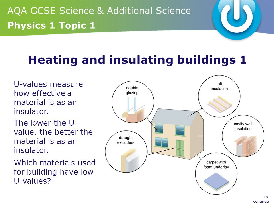 Heating and insulating buildings 1
