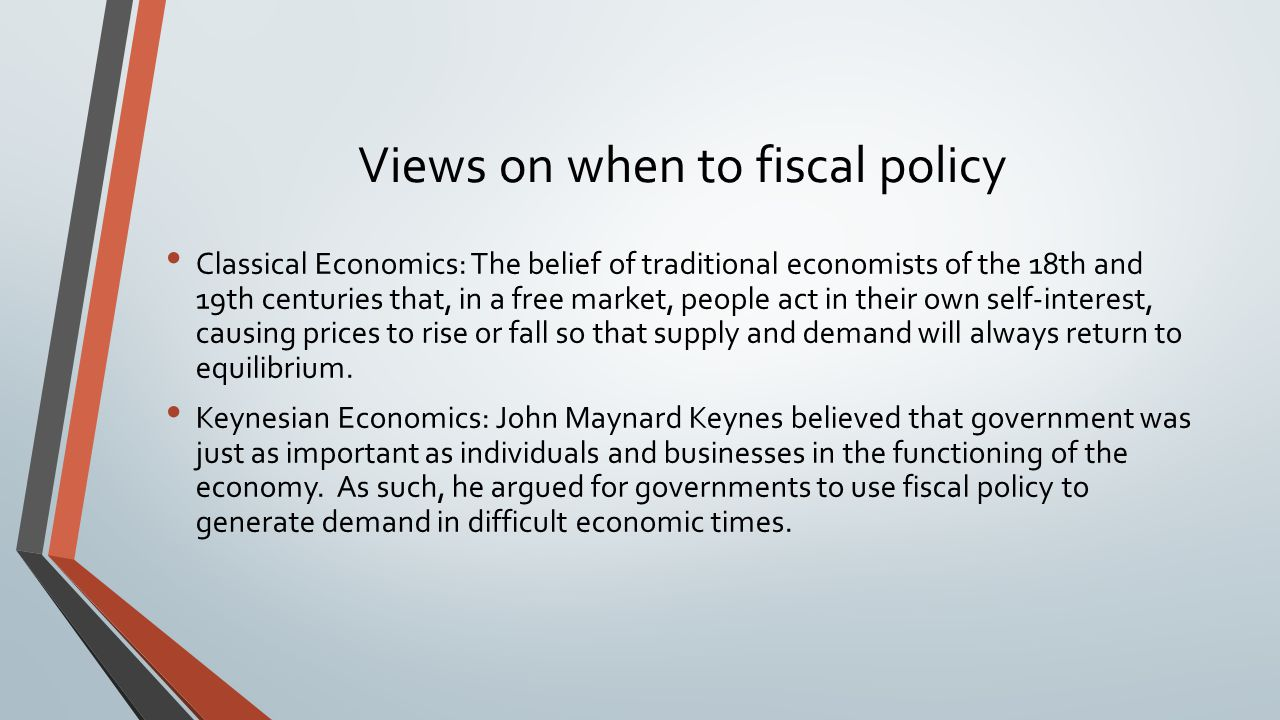 governements use fiscal policy to help Fiscal policy versus monetary policy comparison chart fiscal policy monetary policy definition: fiscal policy is the use of government expenditure and revenue collection to influence the economy.