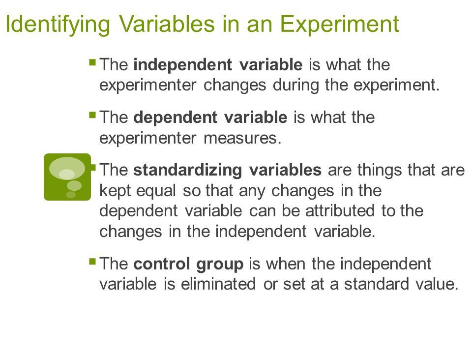 Identifying experimental variables worksheet