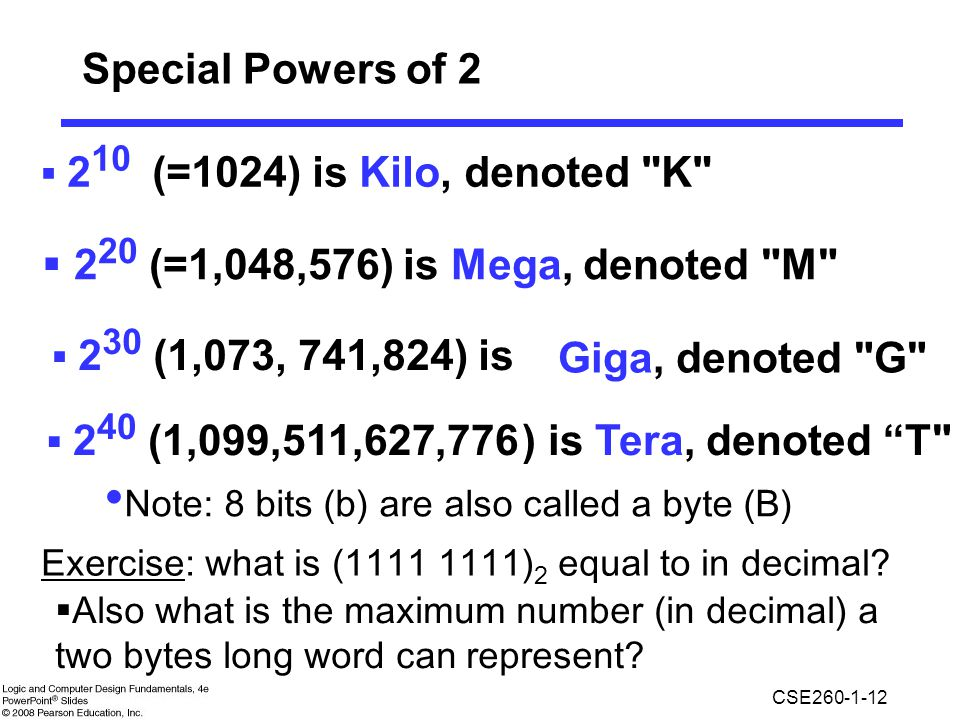 Special Powers of (=1,048,576) is Mega, denoted M