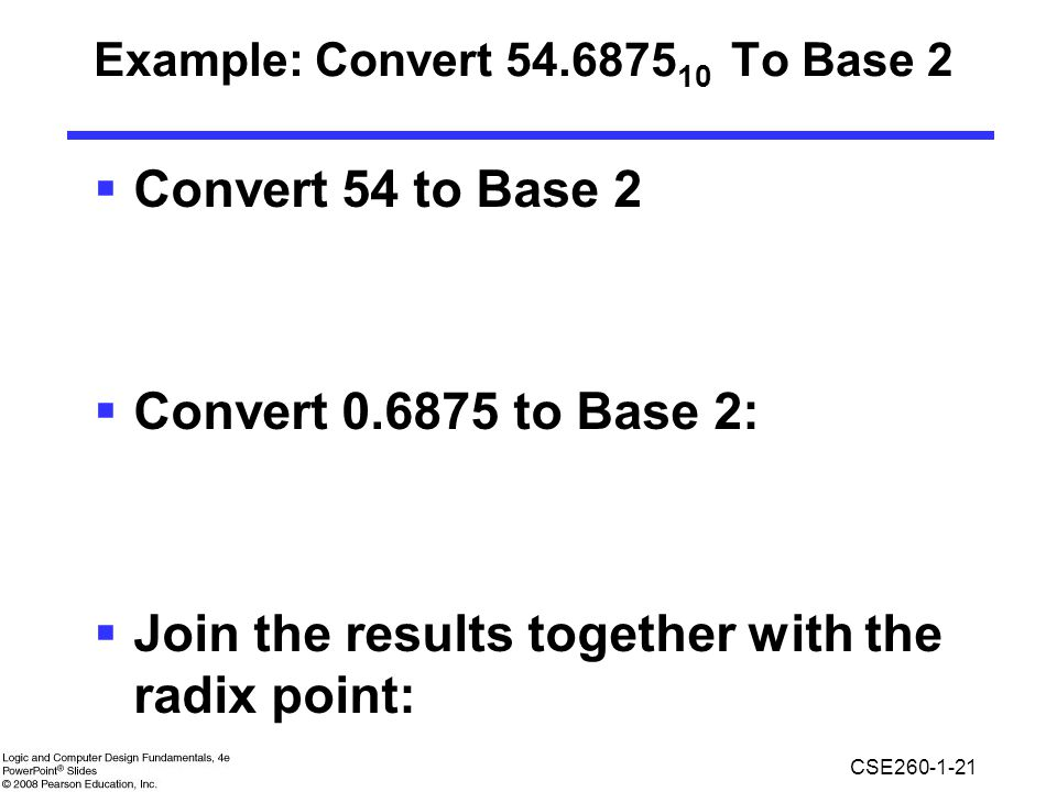 Example: Convert To Base 2