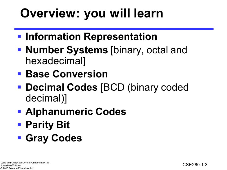 Overview: you will learn