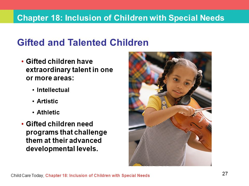 A study on special needs children and gifted children