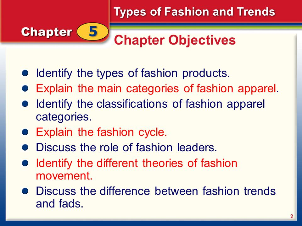 Chapter 5 Types Of Fashion And Trends Types Of Fashion Ppt Video Online Download