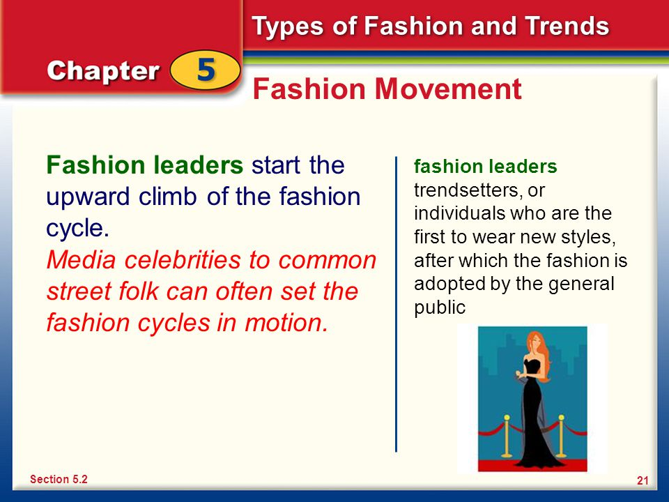 Chapter 5 Types of Fashion and Trends Types of Fashion ...