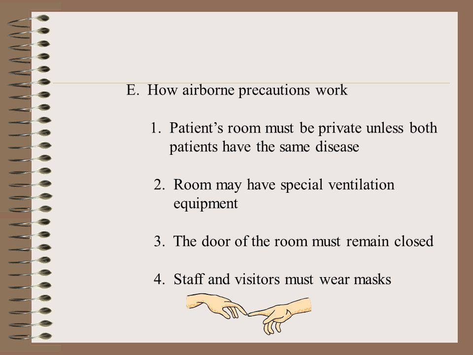 E. How airborne precautions work