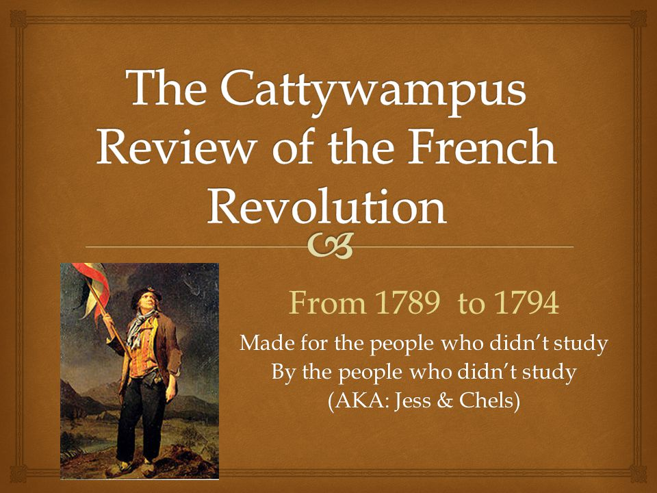 Revisited after one year - French Revolution