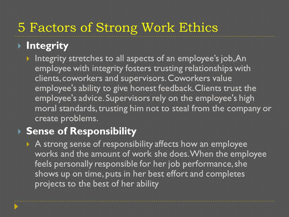 good work ethics essay