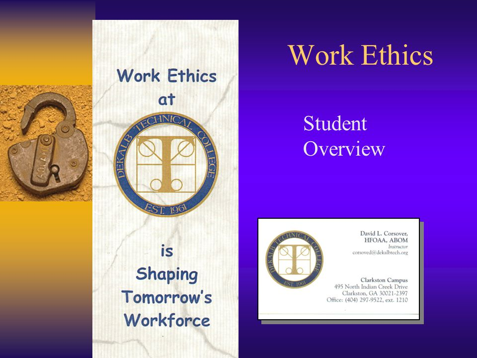 ethics an overview