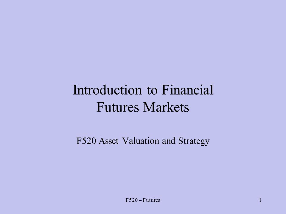introduction to financial markets essay