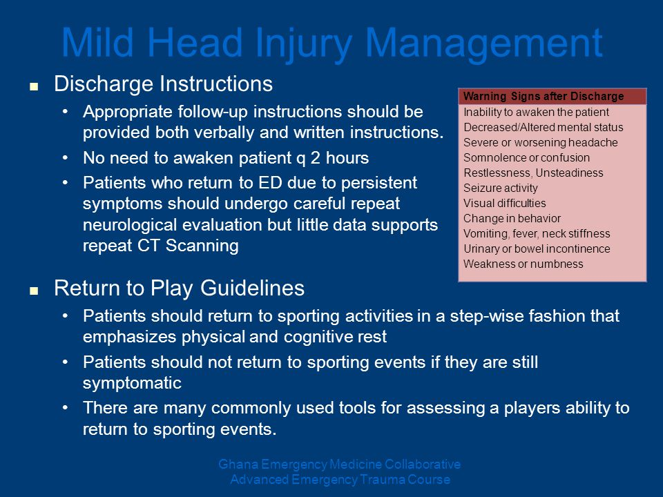 head injury management guidelines pdf