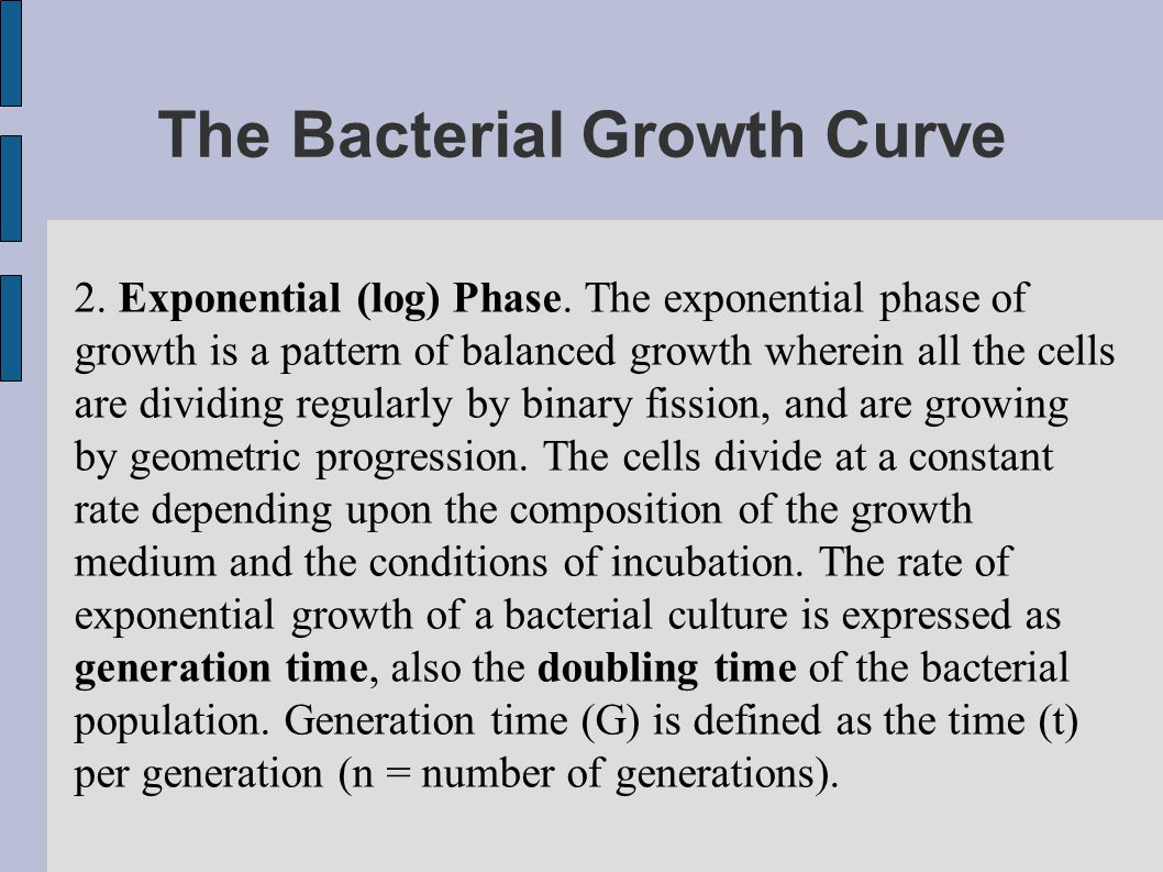 The Bacterial Growth Curve